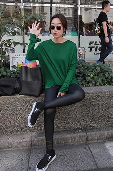 シンプルスリットスリーブTシャツ[size:XS~M / 4color]